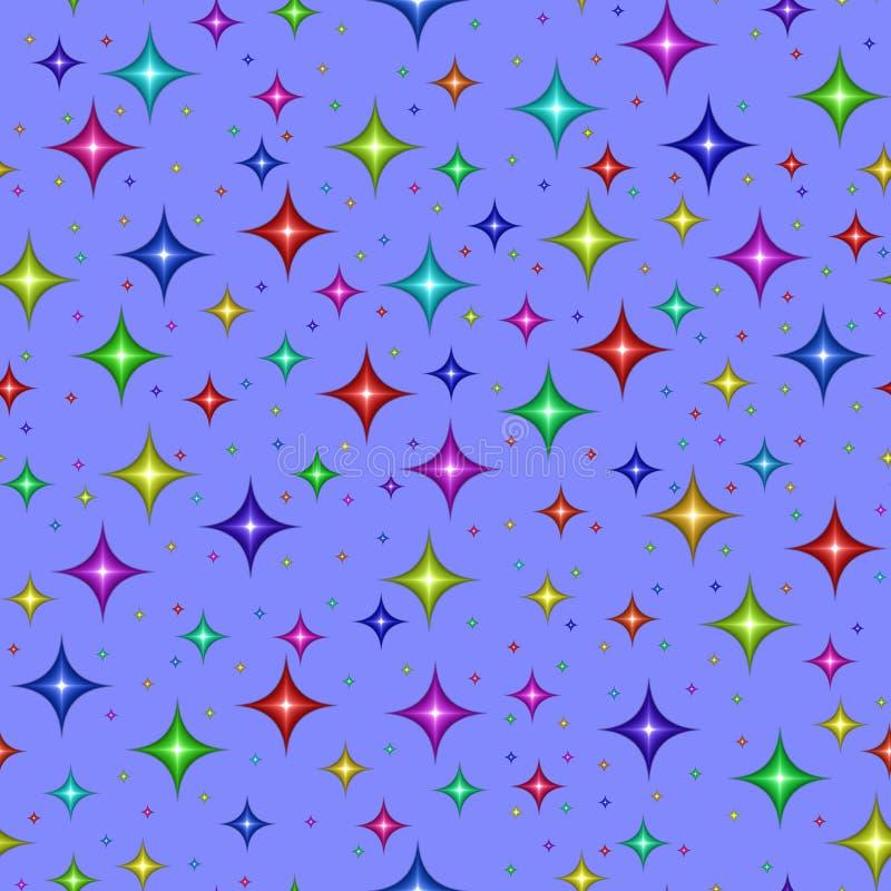 blue multicolored stars απεικόνιση αποθεμάτων