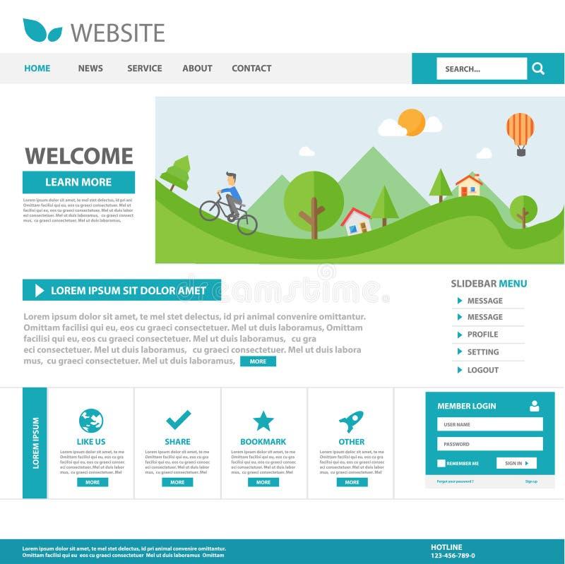 Blue Multipurpose Brochure Flyer Leaflet Website Template Flat ...