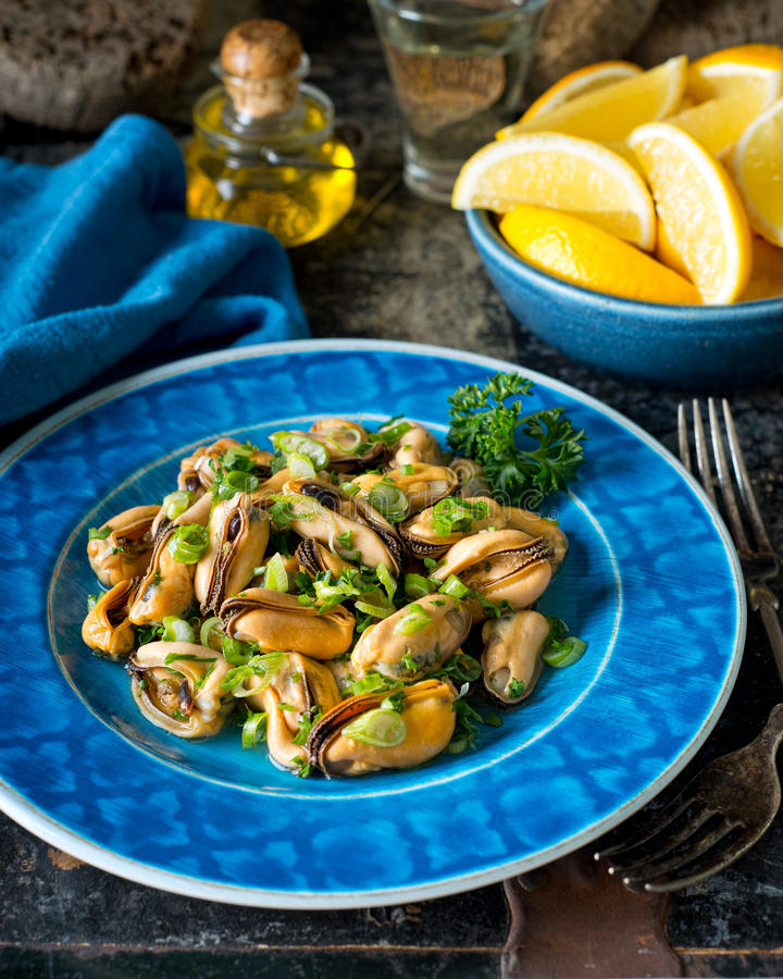 Blue Mussel Salad stock photography