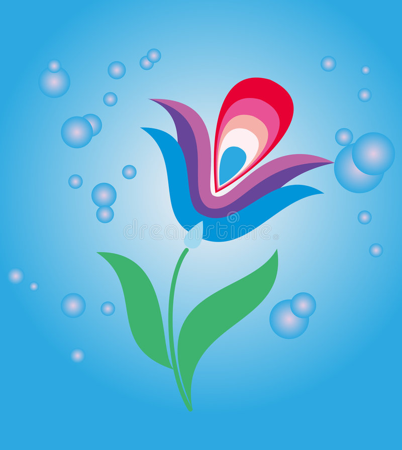 Download Blue mystic flower stock vector. Image of beauty, botanical - 9170211