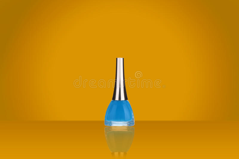 Blue nail polish stock photo