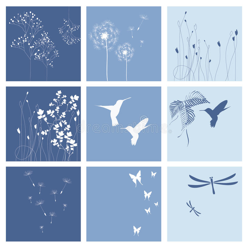 Blue nature backgrounds stock photos