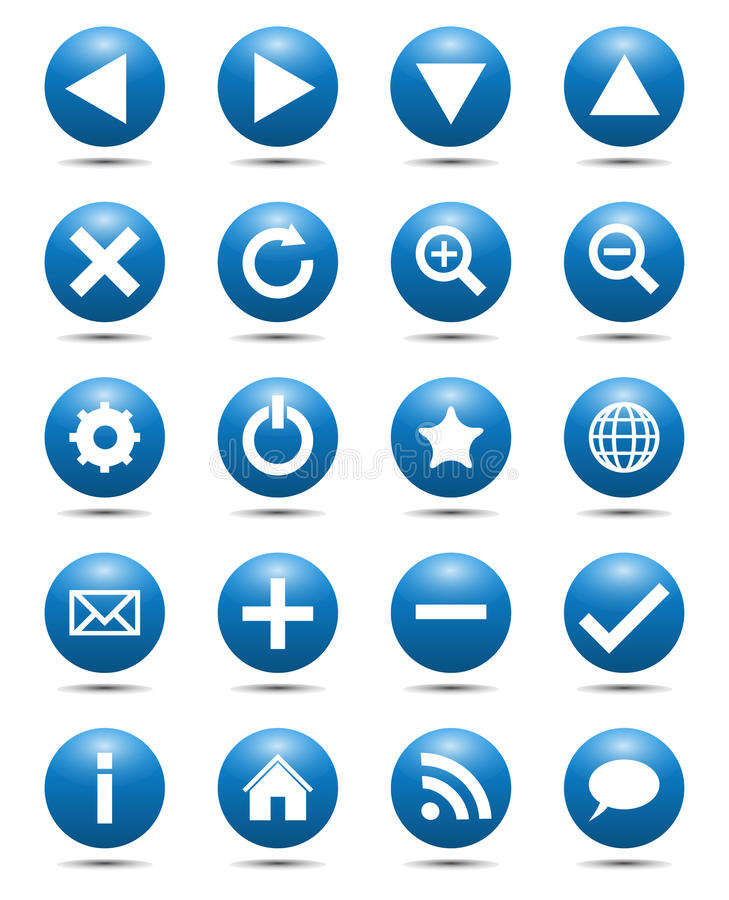 Download Blue Navigation Web Icons Royalty Free Stock Photography - Image: 24175847
