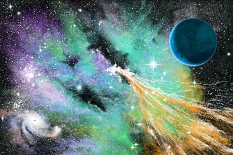 Download Blue nebula stock illustration. Illustration of hole, illustration - 9255942