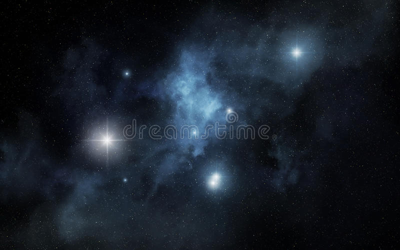 Blue nebula royalty free illustration
