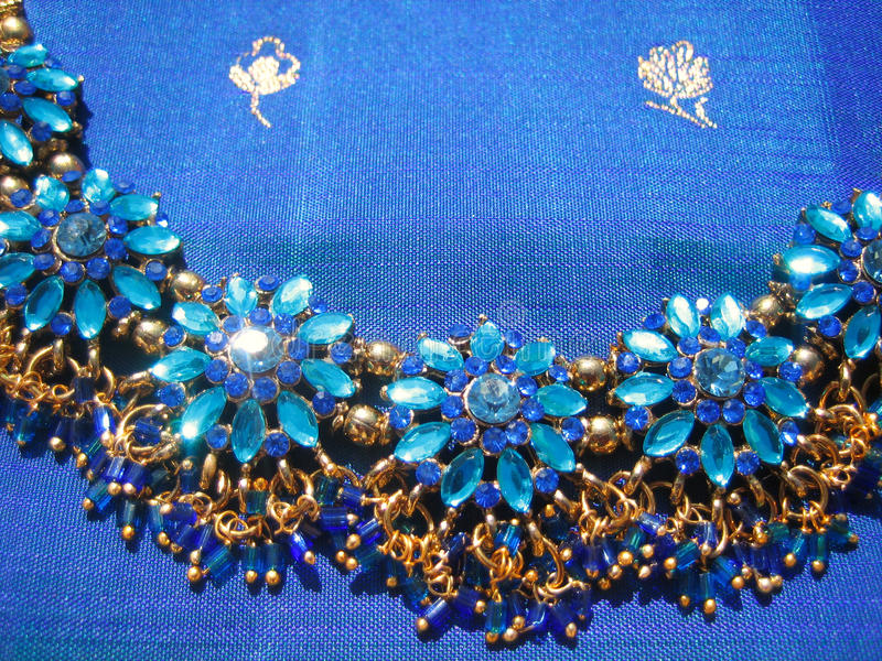 Download Blue necklace stock photo. Image of traditional, necklace - 19942306