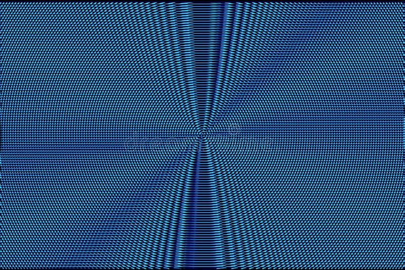 Blue neon halftone abstract background. Hypnotic optical illusion texture.  royalty free stock photo