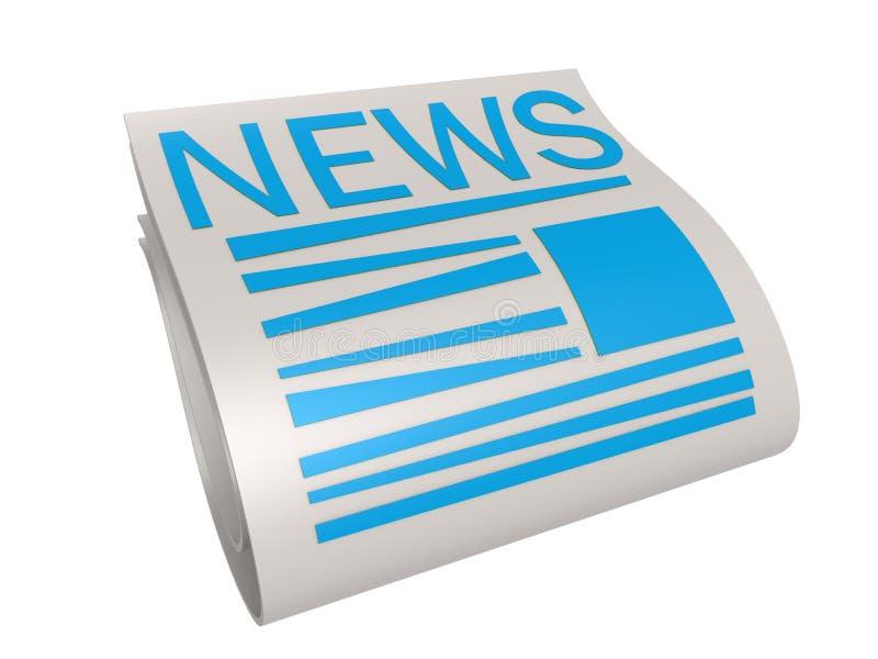 Download Blue new paper stock illustration. Image of message, headline - 34001951