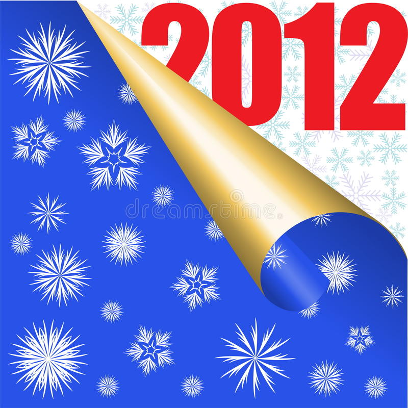 Download Blue New Year background stock vector. Image of 2012 - 22338301