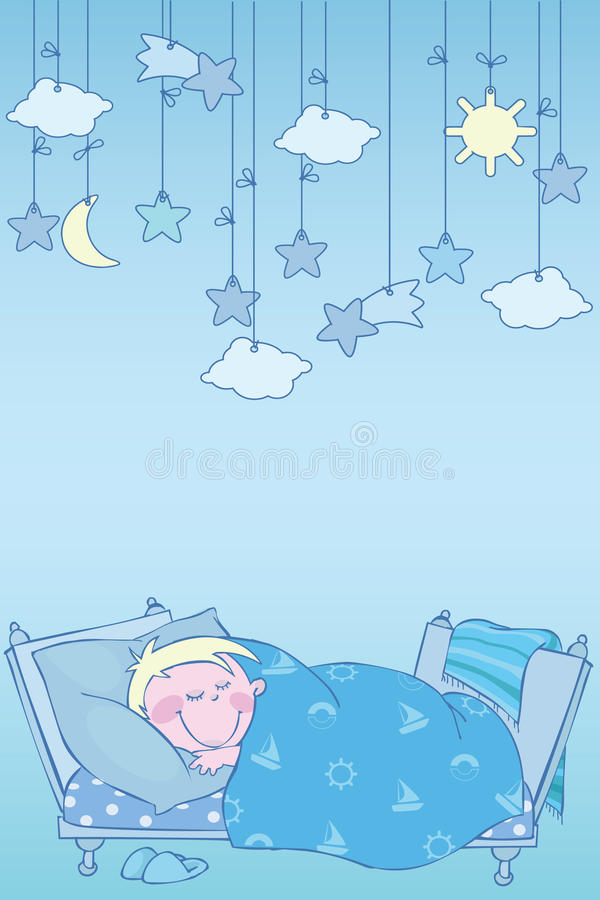 Download Blue night stock vector. Image of childhood, kids, preschool - 16230810