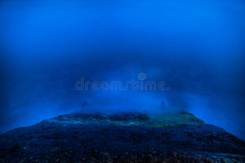 Blue night sea and surf the waves. Blue night sea and surf a waves stock image