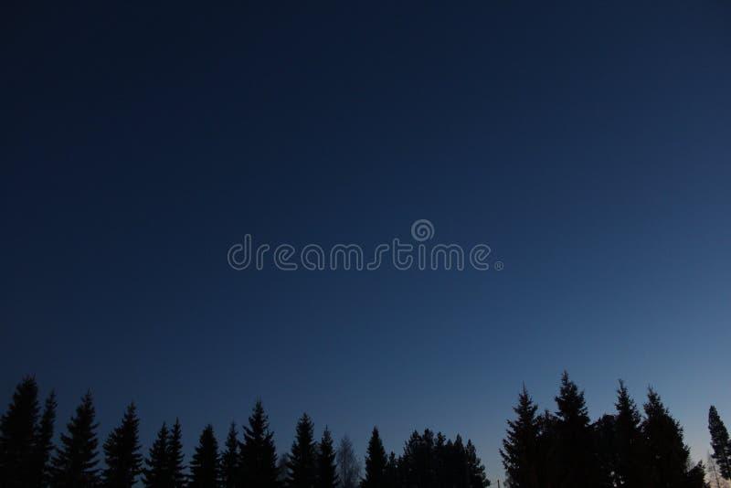 Blue night sky royalty free stock photography