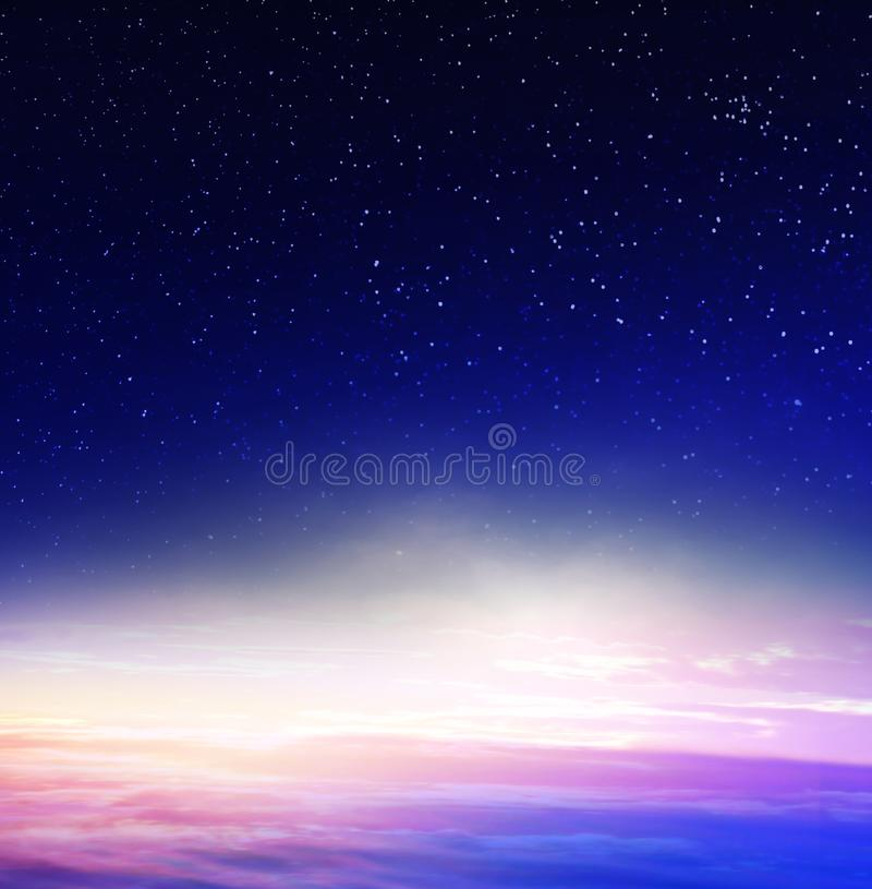 Blue night sky. With stars royalty free stock image