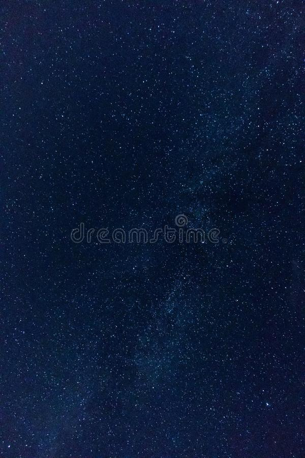 A blue night star sky stock photo