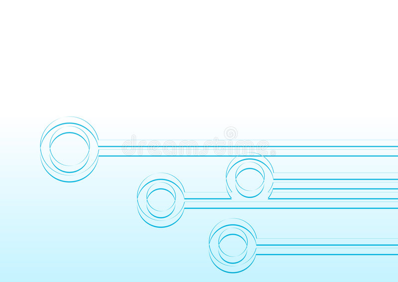 Blue Nodes vector illustration