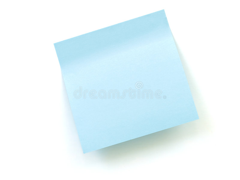 Download Blue note pad stock photo. Image of attach, info, paper - 7211698