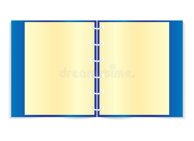 Download Blue notebook stock vector. Image of notepad, page, notebook - 18777591