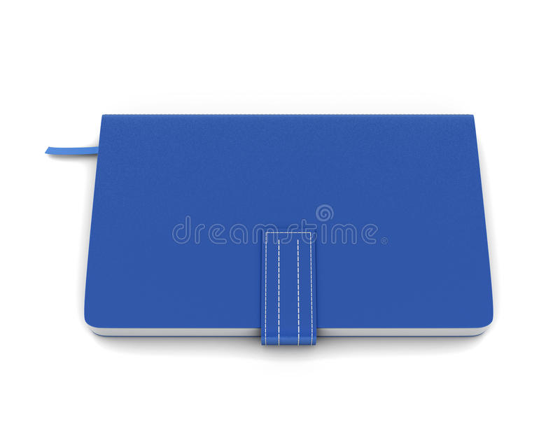 Blue notebook for notes stock illustration