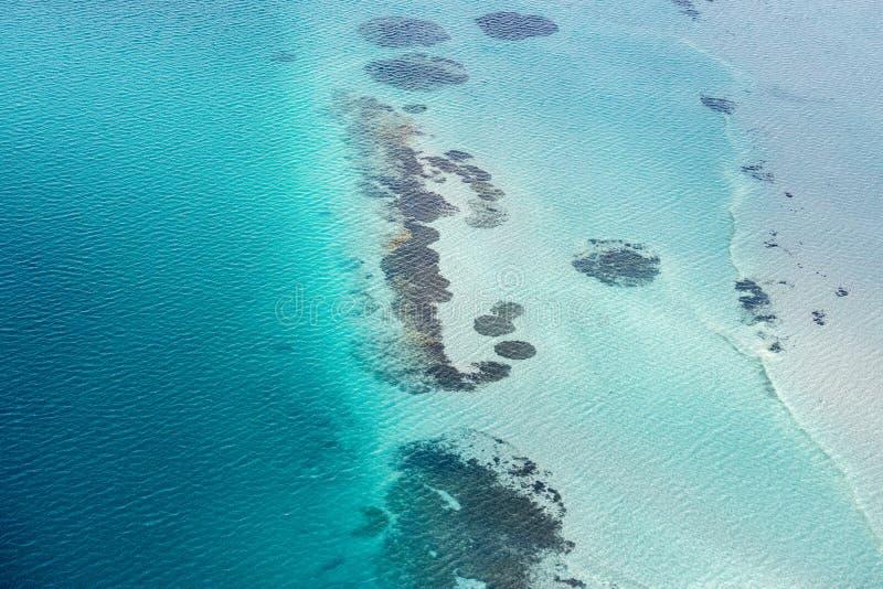 Blue ocean aerial view in shark bay Australia royalty free stock photo