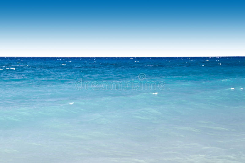 Blue ocean and sky royalty free stock image