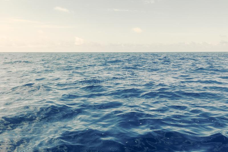 Blue Ocean, Water Surface and Blue Sky royalty free stock image