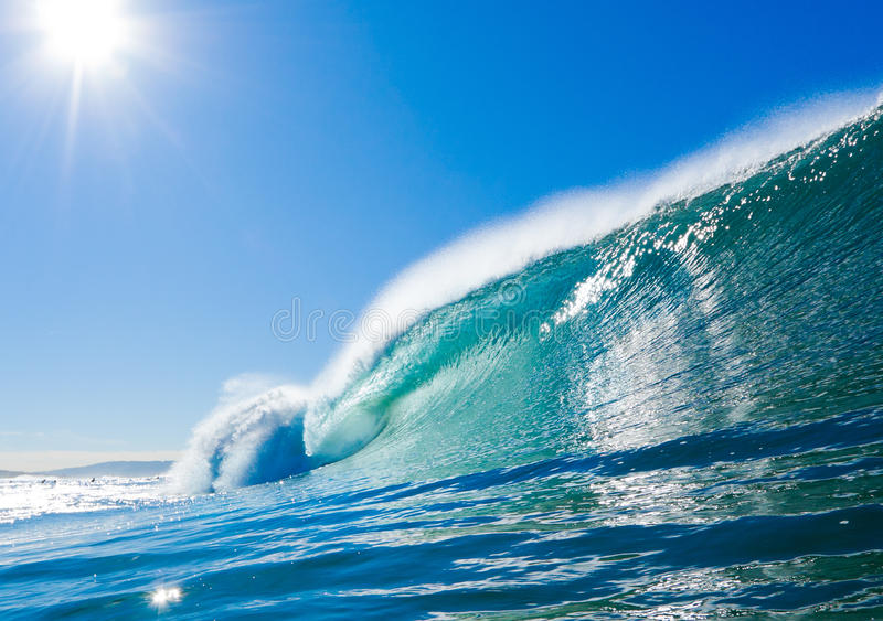 Download Blue Ocean Wave stock image. Image of liquid, motion - 22034013