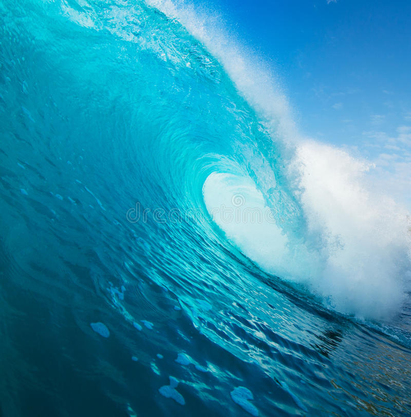 Blue Ocean Wave royalty free stock images