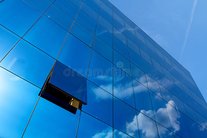 Blue office stock image
