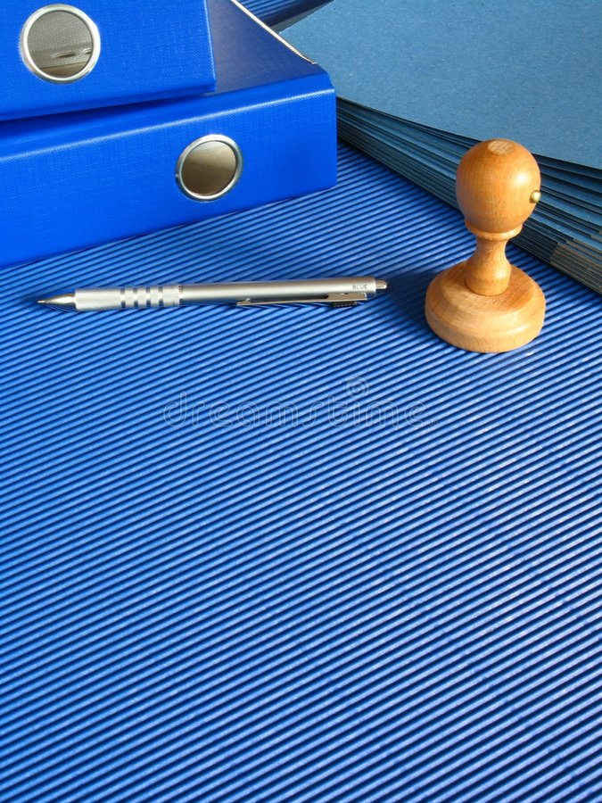 Blue office. An image of blue office - desk royalty free stock images