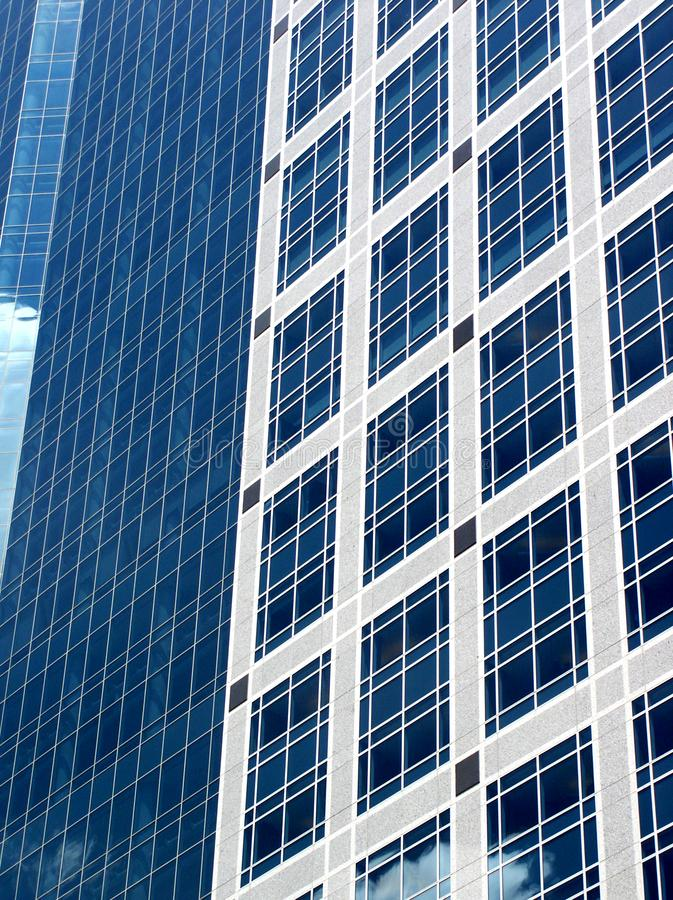 Blue office building royalty free stock photography