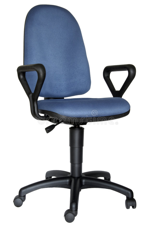 Blue office chair stock images