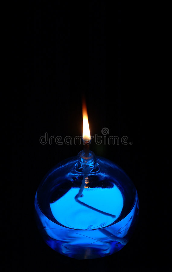 Blue Oil Candle stock photography