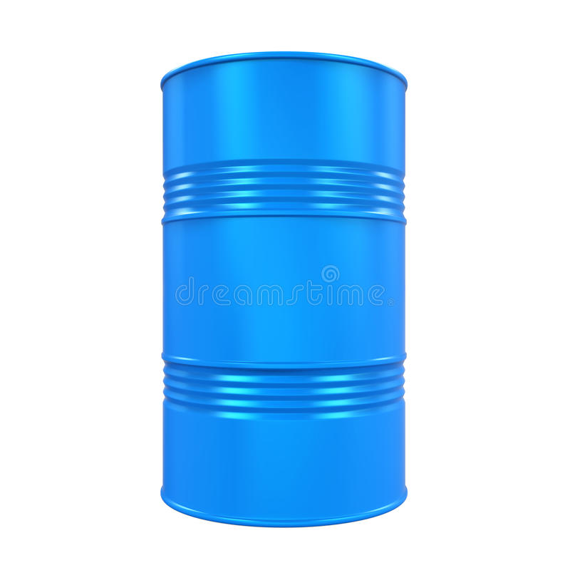 Blue Oil Drum Isolated stock illustration