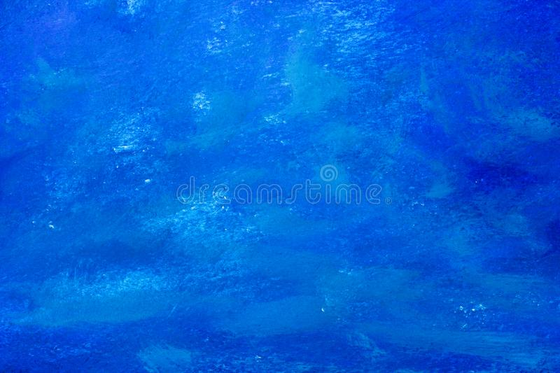Blue colorful oil acrylic painting abstract artistic brush stroke and splatter background vector illustration