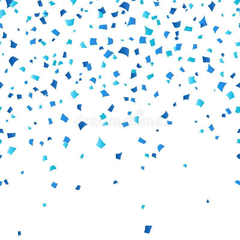Blue Oktoberfest confetti on white background. Festive decoration in traditional colors of German national beer festival royalty free illustration