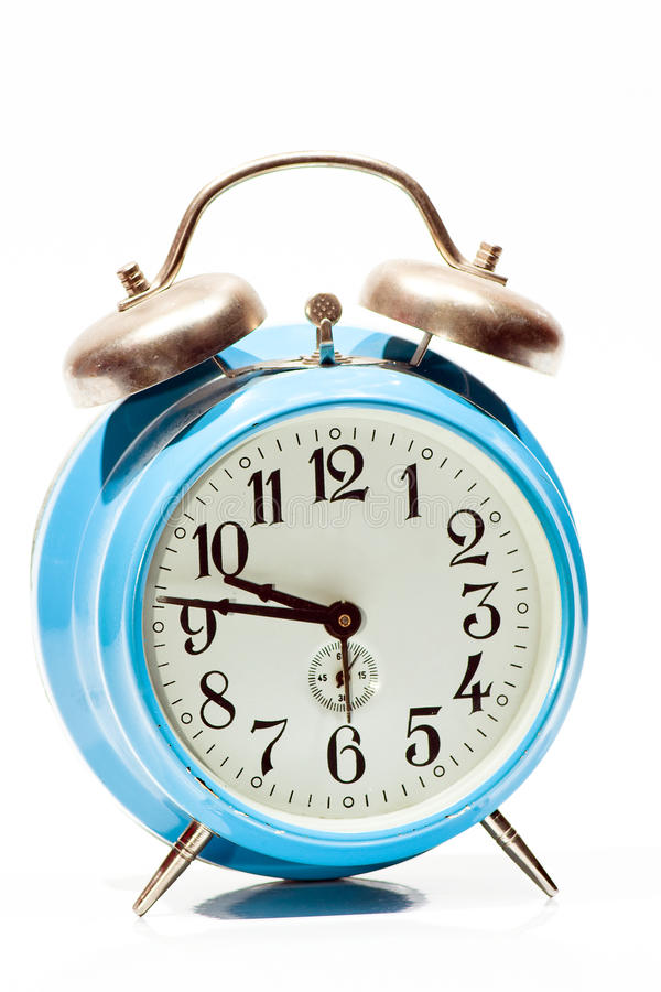 Download Blue Old Clock stock photo. Image of awake, black, appointment - 38672386