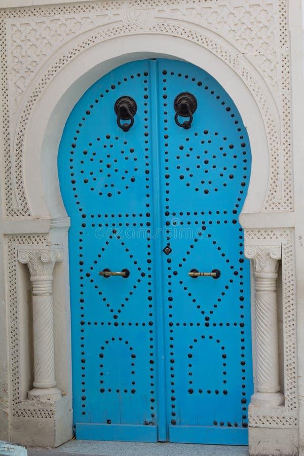 Blue Old Door Stock Photography