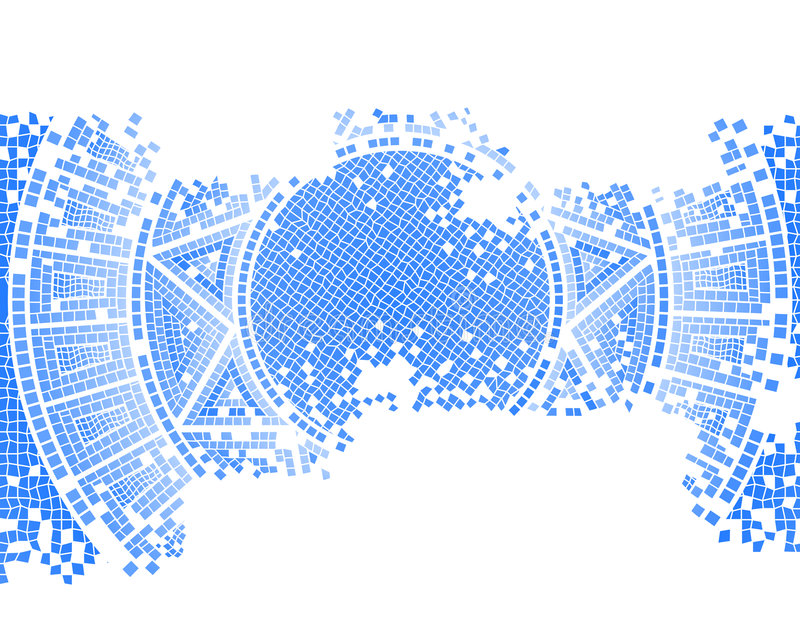 Blue old mosaic royalty free illustration