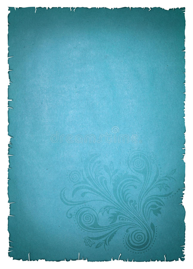 Free Blue Old Paper Stock Photography - 22310032