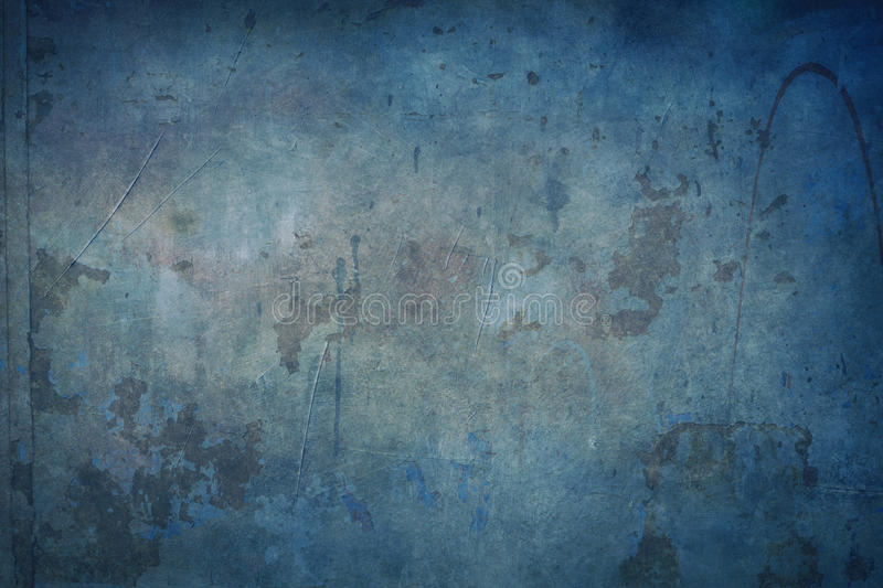 Blue grungy background. Blue old rusty background or texture royalty free stock images