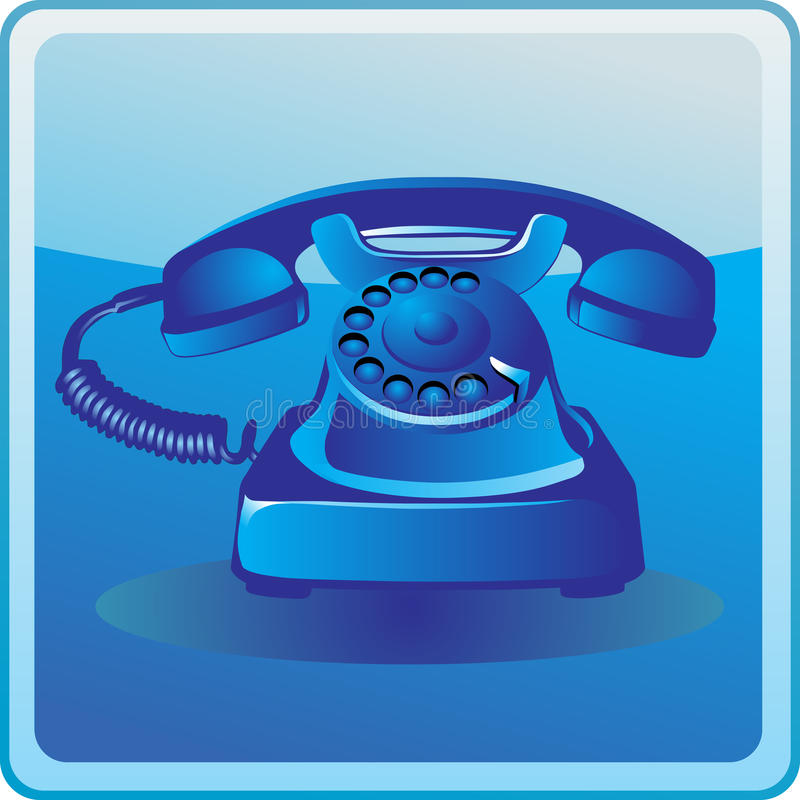 Free Blue Old Telephone Stock Photos - 18732923