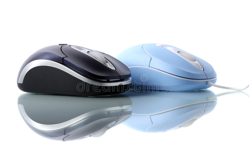 Blue Optical Mouse Royalty Free Stock Photography