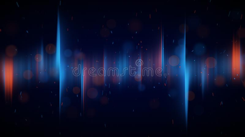 Blue and orange aurora lights abstract background royalty free illustration