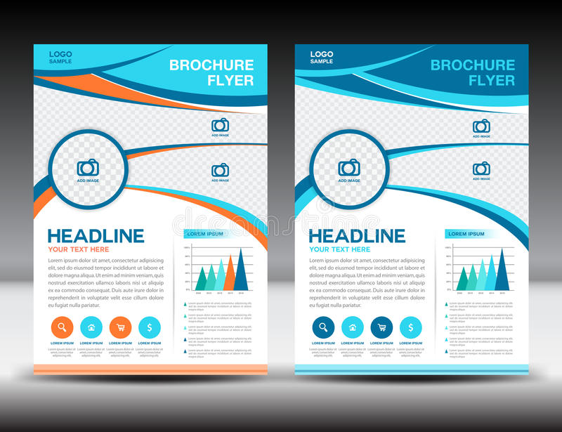Blue And Orange Business Brochure Flyer Design Layout Template I