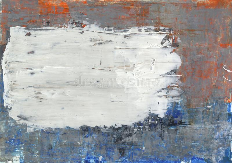 Blue, orange and grey abstract background stock photos