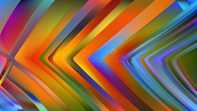Blue Orange Line Background Beautiful elegant Illustration graphic art design Background. Image royalty free illustration