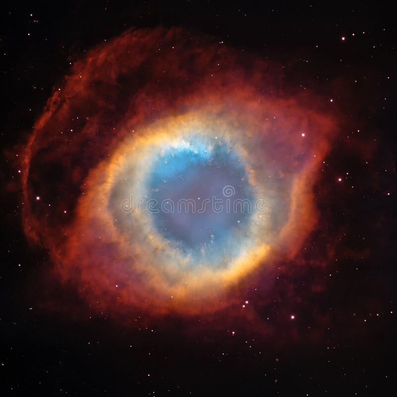 Blue Orange and Red Outer Space Photo stock photo