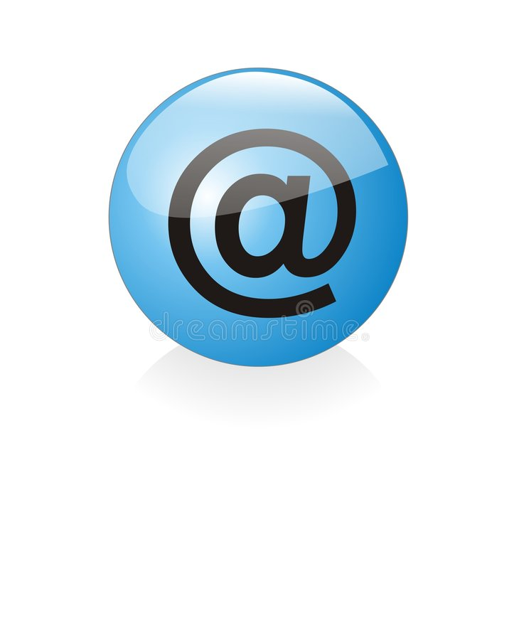 Blue at orb (email) royalty free stock images