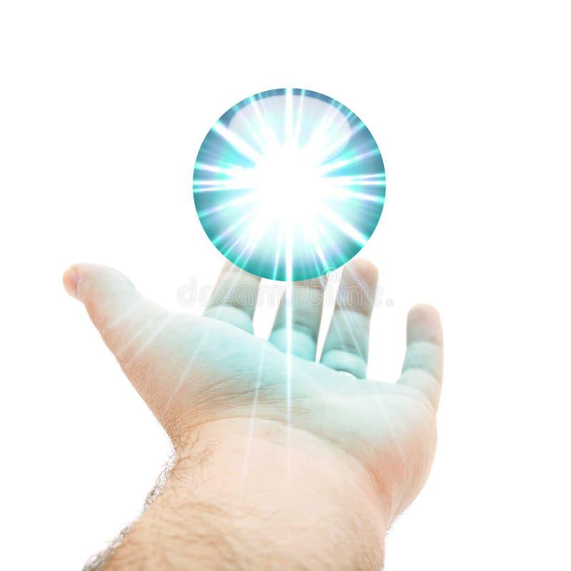 Download Blue Orb Hand stock illustration. Image of business, hovering - 15463722