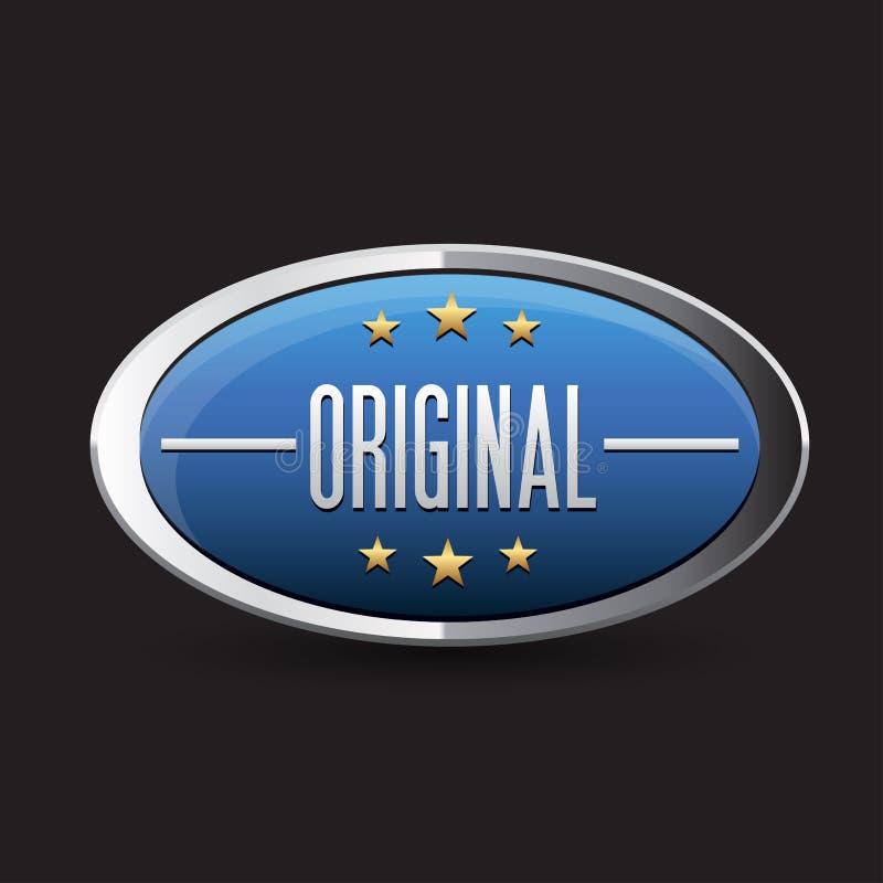 Download Blue Original Button Retro Style Stock Vector - Illustration: 27874676